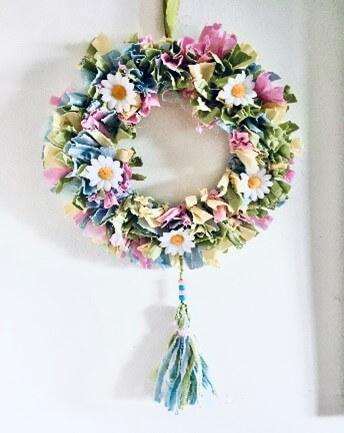 Easter Rag Wreath
